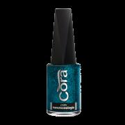 Esmalte Cora Turquesa Glitter 9ml