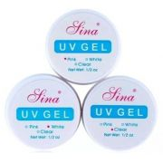 Gel Lina Cores Pink, Clear e White