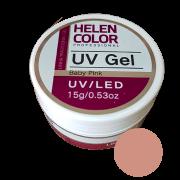 Gel Linha Baby Pink Helen Color Uv Led Unha Acrygel 15g