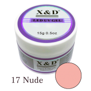 Gel Xed 17 Nude - 15g - Alongamento - Unhas De Gel Led Uv