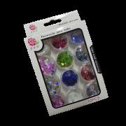 Glitter Borboleta Para Unhas em Gel J&X