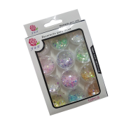 Glitter Flocado Claro Para Unhas Em Gel J&X