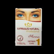 Henna Expressão Natural Castanho Claro Profissional + Fixador 2,5g