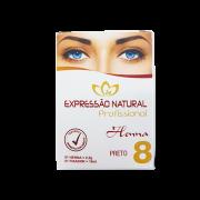 Henna Expressão Natural Preto Profissional + Fixador 2,5g