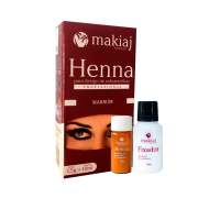 Henna Makiaj para Design Sobrancelha Marrom 1,5g + 10ml