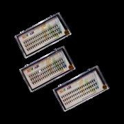 Kit com 3 Cílios Alongamento Tufinho Volume Russo 0.7 -  Fio a Fio Peninha New Air 10mm 12mm e 14mm