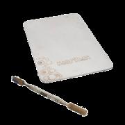 Placa e Espátula em Aço Inox para Maquiagem Macrilan AC-04