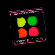 Quarteto de Sombras Matte Neon Ludurana 4g