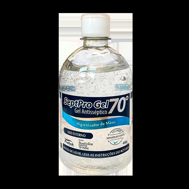 Álcool em Gel 70 Antisséptico Higienizador De Mãos 440g Septo Pro Gel Prolink