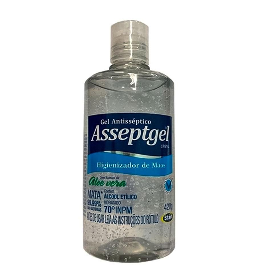 Álcool em Gel Higienizador de Mãos Aloe Vera Start 420 gr