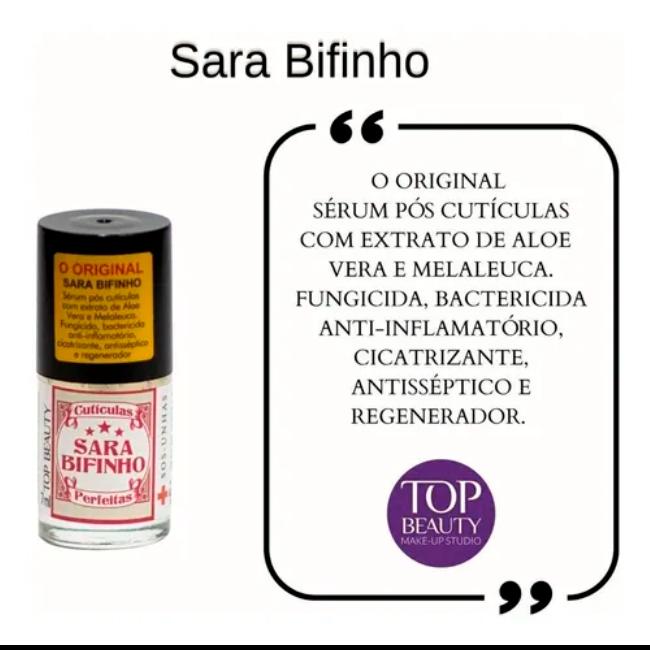 Base Tratamento Sara Bifinho Sos Unhas Top Beauty 7ml