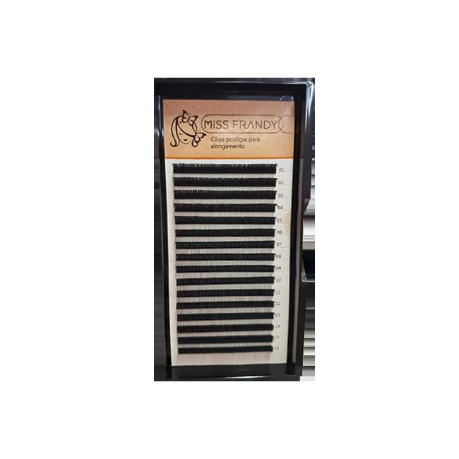 Cílios Miss Frandy Fio A Fio Curvatura D 0.15 8mm
