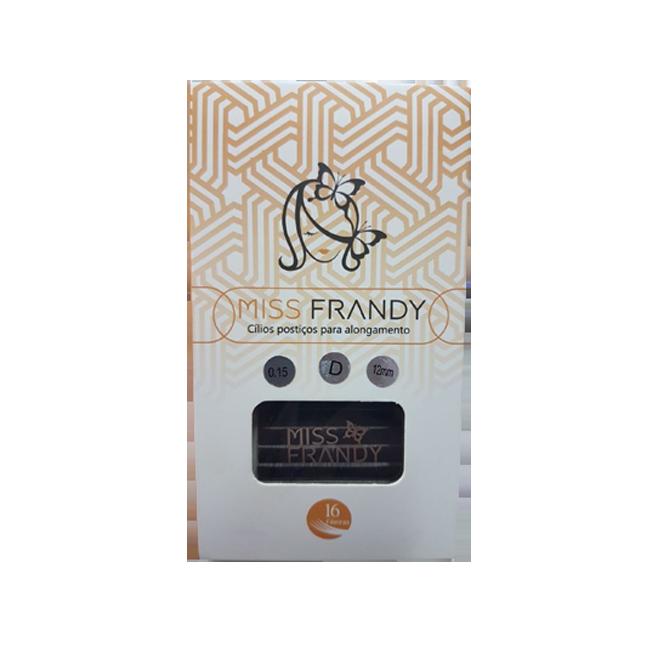 Cílios Miss Frandy Fio A Fio Curvatura D 0.15 12mm