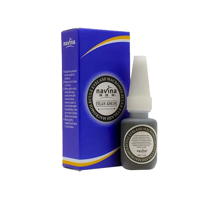 Cola Navina Azul Alongamento De Cílios Original