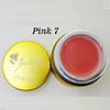 Pink 7 Fan Nails