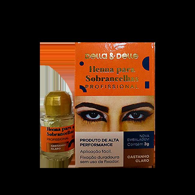 Della & Delle Henna Para Sobrancelha 3g - Castanho Claro