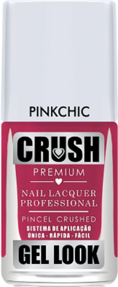 Esmalte Crush Efeito Gel Look Pink Chic