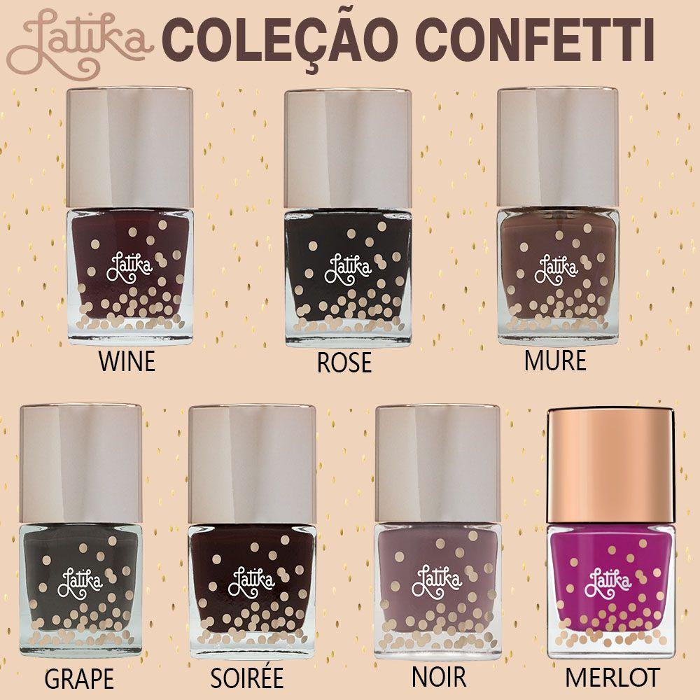 Esmalte latika Coleçao Confetti com 7 cores