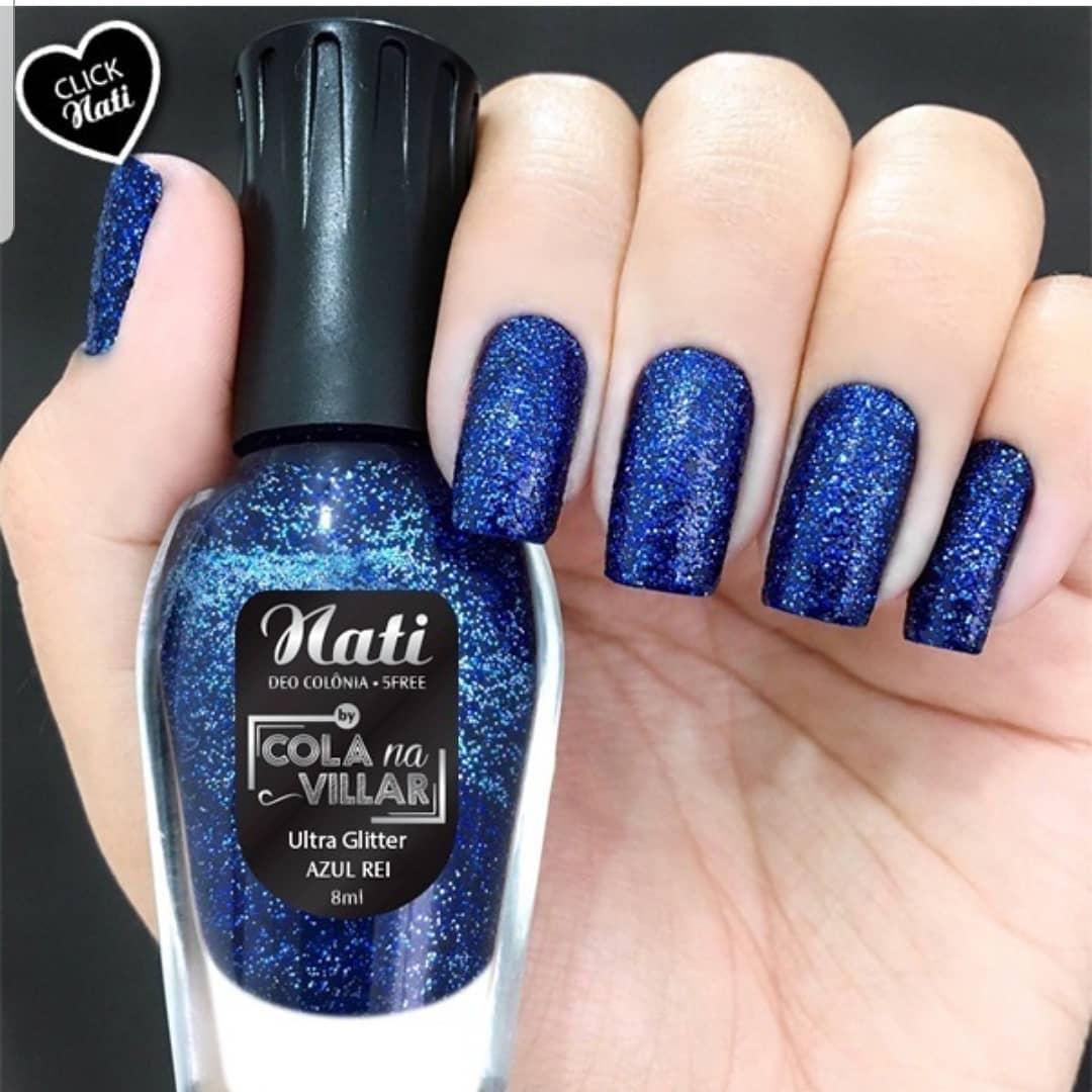 Esmalte Nati Colla na villar Azul Rei