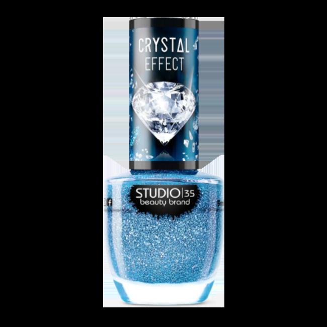 Esmalte Vegano Studio 35 Mardo Caribe Coleção Crystal Effect III 9ml