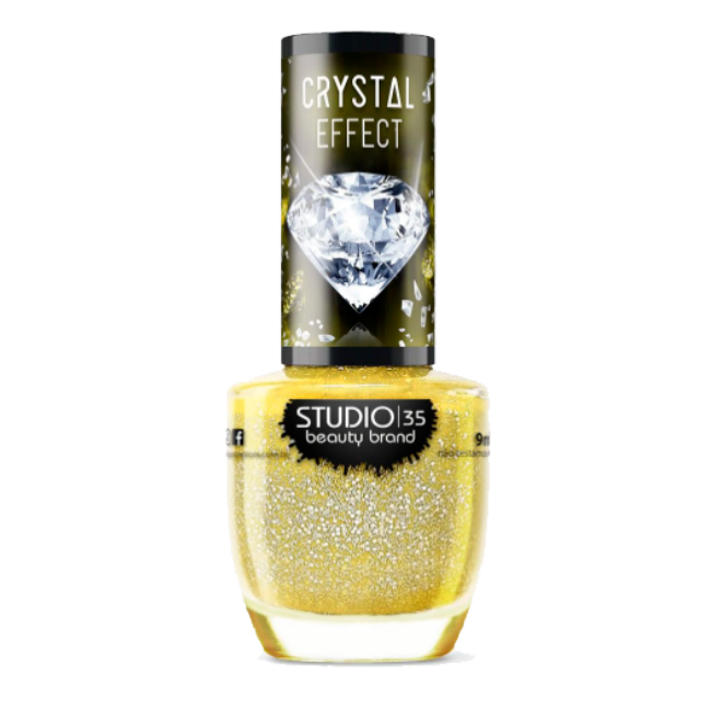 Esmalte Vegano Studio 35 Raio de Sol Coleção Crystal Effect III 9ml