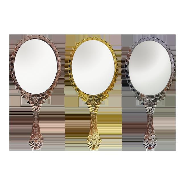 Espelho De Mão Princesa Vintage P/ Maquiagem Cores Variadas 1 unidade