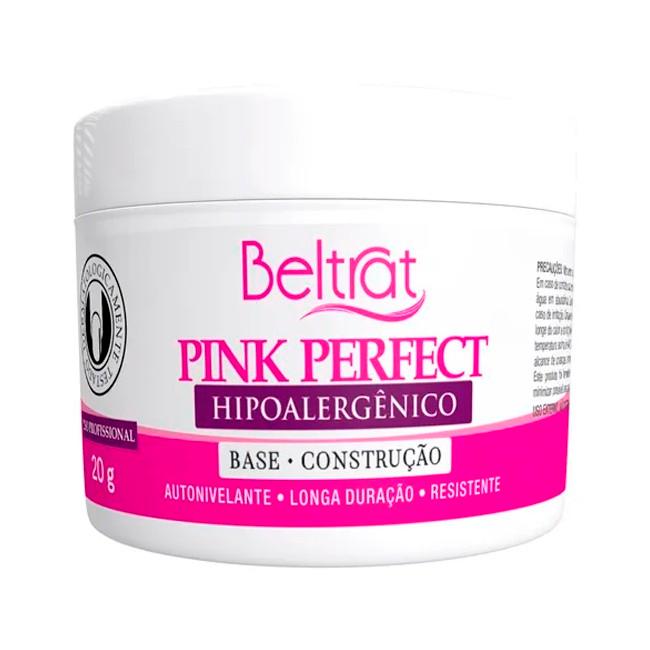 Gel Beltrat Pink Perfect Autonivelante Base Construção 20gr Manicure Alongamento Unhas