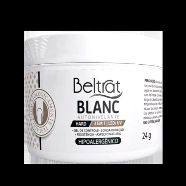 Gel Construtor Autonivelante Blanc HARD Beltrat 24g Manicure Alongamento Unhas