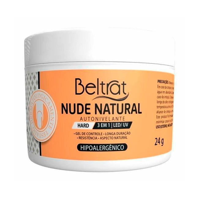 Gel Construtor Autonivelante Nude Natural HARD Beltrat 24g Manicure Alongamento Unhas
