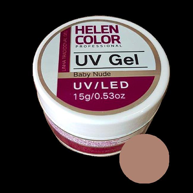 Gel Linha Baby Nude Helen Color Uv Led Unha Acrygel 15g