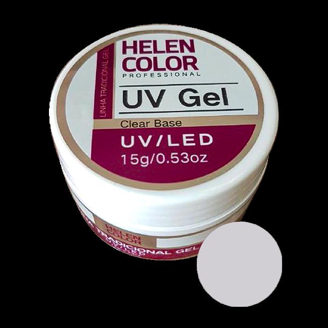 Gel Linha Base Clear Helen Color Uv Led Unha Acrygel 15g