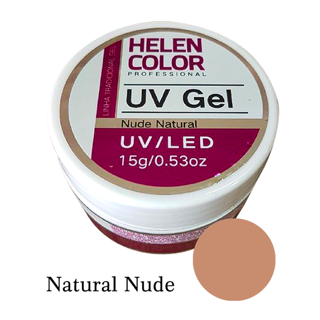 Gel Linha Natural Nude Helen Color Uv Led Unha Acrygel 15g