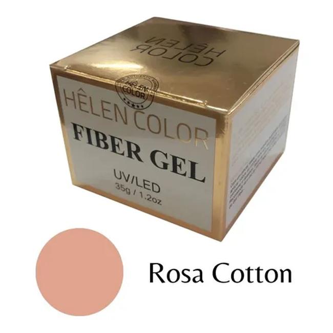 Gel Para Alongamento De Unhas Helen Color Rosa Cotton 35g