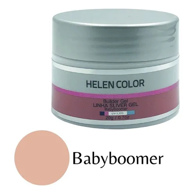 Gel Para Unhas De Gel Helen Color Silver Babyboomer 20g
