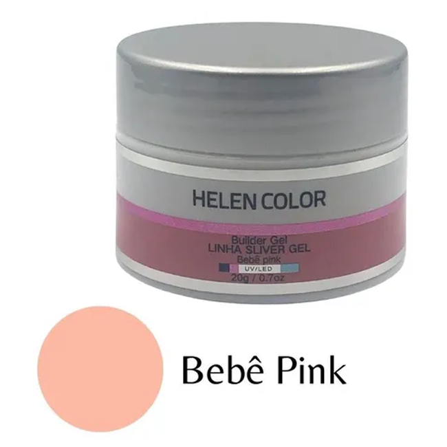 Gel Para Unhas De Gel Helen Color Silver Bebê Pink 20g