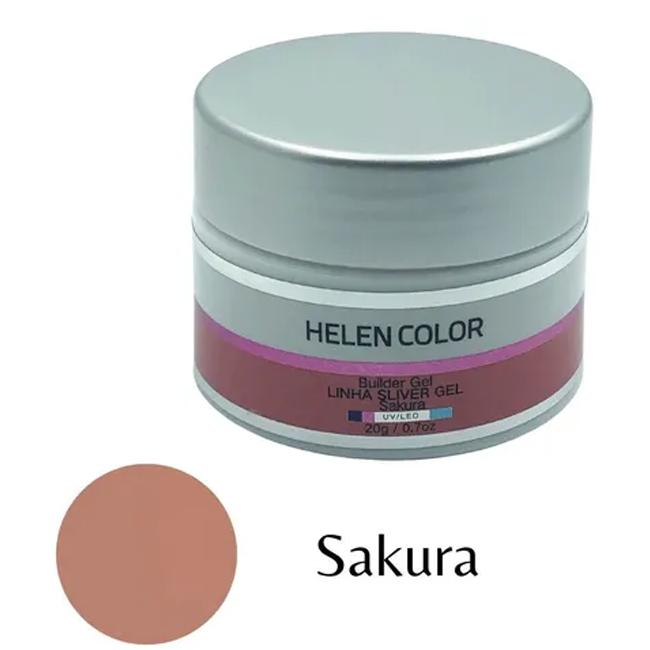 Gel Para Unhas De Gel Helen Color Silver Sakura 20g