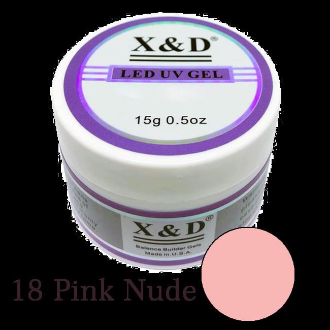 Gel Xed 18 Nude Alongamento - Unhas De Gel Led Uv 15g