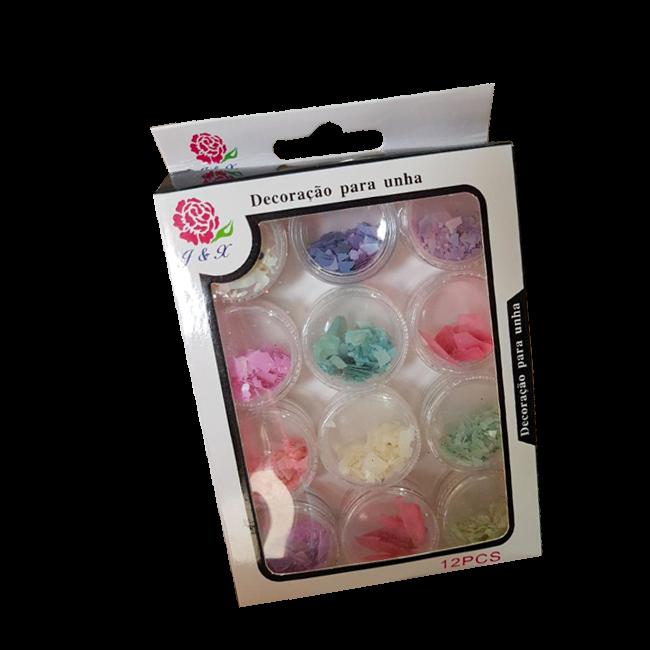 Glitter Madre Pérola Para Unhas Em Gel J&X