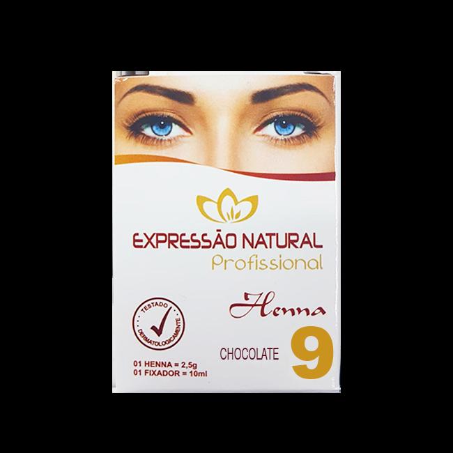 Henna Expressão Natural Chocolate Profissional + Fixador 2,5g