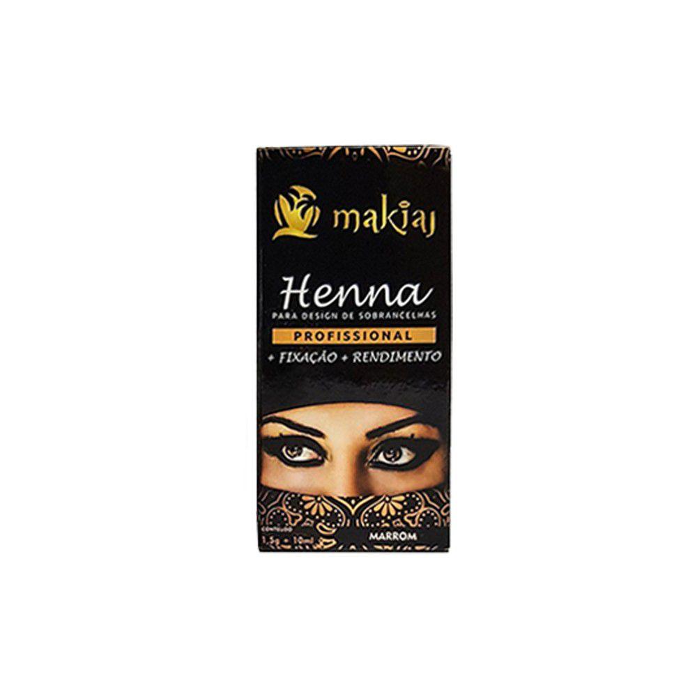 Henna makiaj Castanho Escuro
