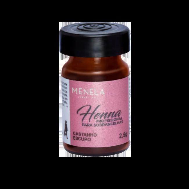 Henna para sobrancelha Menela CASTANHO ESCURO 2,5g