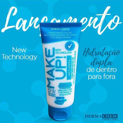 Hidratante facial recuperador bio-ativado pos maquiagem Dermachem