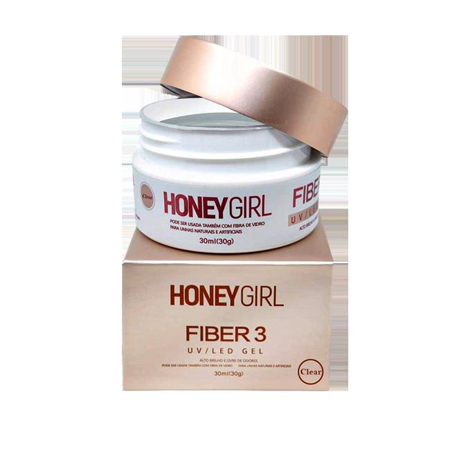 Honey Girl Gel Fiber 3 Clear T3 Construção De Unhas 30g