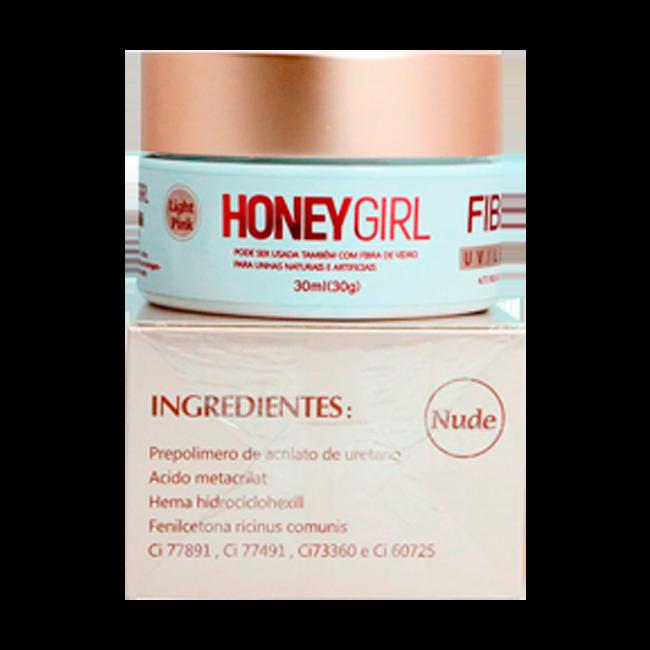 Honey Girl Gel Fiber 3 Nude Construção De Unhas 30g