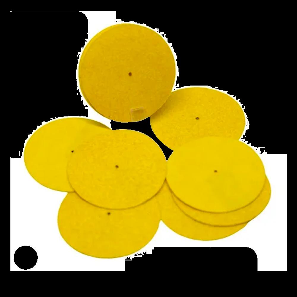 Lixa Disco Plantar Gramatura 80 para Podologia 100 Unidades