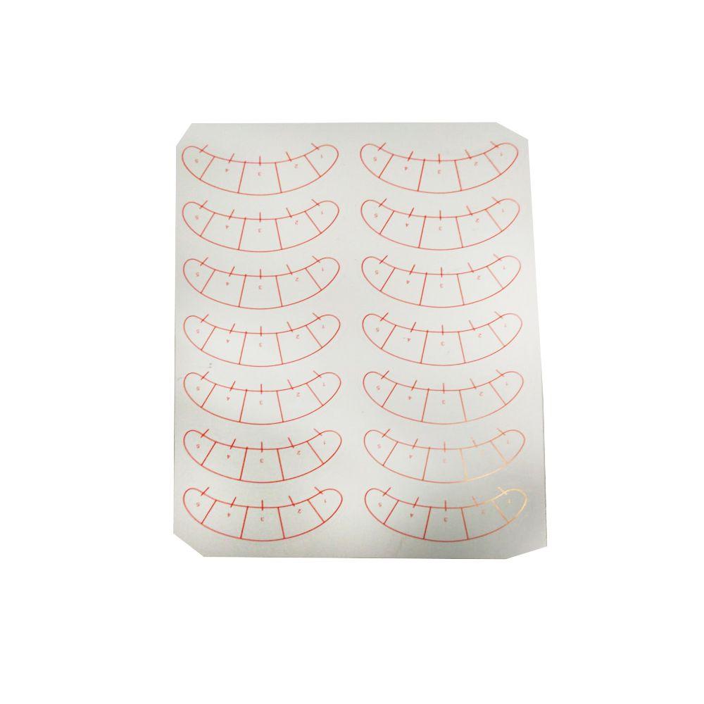 Molde de papel para sobrancelha