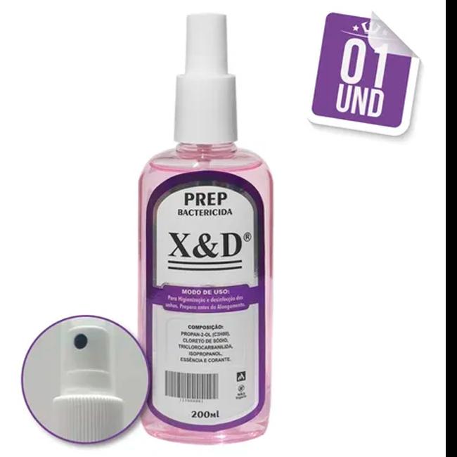 Preparador Unha De Gel Spray Anti - Bactericida X&d Prep 200ml