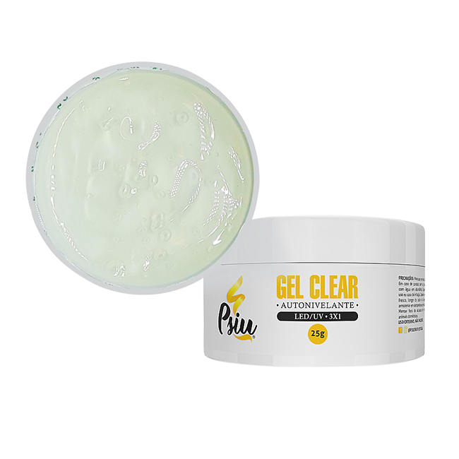 Psiu Gel Clear Led/uv 25g Flexivel Unhas Manicure