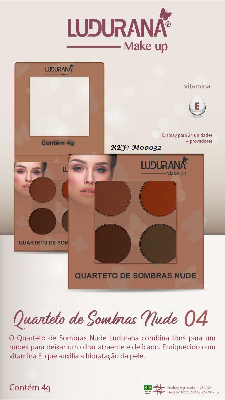 Quarteto De Sombras Ludurana Nude 04