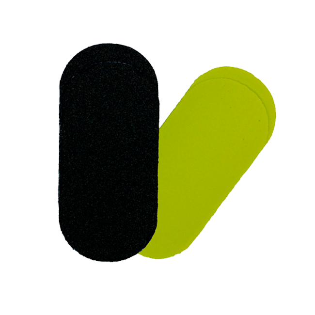 Refil Adesivado Lixa para Pés Preta e Amarela HigiBeauty Ref 024 30 Unidades